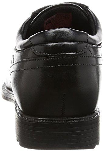 Rockport Pln Toe, Derbys homme Noir (Black)