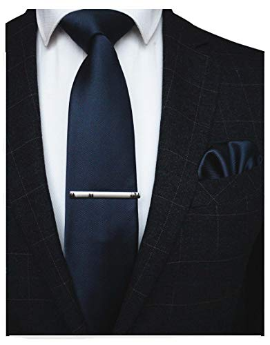 JEMYGINS Cravate Bleu marine Hom...