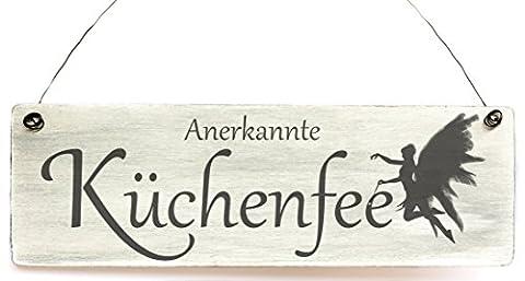 Shabby Dekoschild Anerkante Küchenfee Holzschild Geschenk Vintage