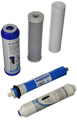 Ersatz Carbon Post Filter (Purenex 1C-1gac-1s-1i-1m50Umkehrosmose RO Filter Ersatz Set mit 50GPD Membrane)
