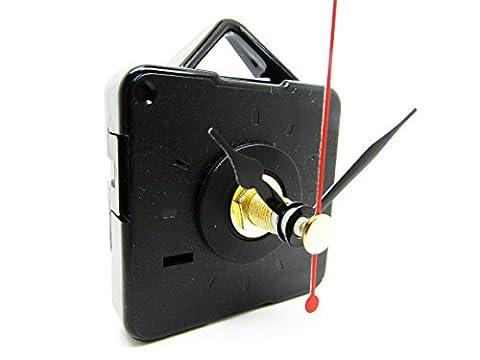Replacement Short Quartz Non Ticking Clock Movement Mechanism Motor & Metal Hands & Fittings - DIY (36mm,