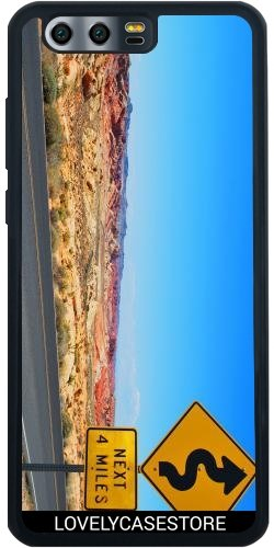 SilikonHülle für Huawei Honor 9 - Straße USA USA Drehen Vereinigte Staaten Wüste Arid Sun Sky Blue