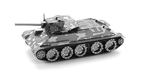 Metal Earth Fascinations MMS201 - 502458, T34 Panzer, Konstruktionsspielzeug, 2 Metallplatinen, ab 14 Jahren