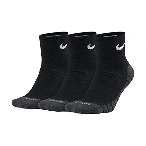 Nike - Dry Cushion Quarter 3 Paar Herren Trainingssocken- Gr. L (38-42 EU), schwarz - grau - weiß - Rechts-links-socken