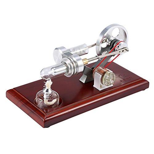 Estink Stirlingmotor, Heißluft-Stirlingmotor-Modell, Bildung Spielzeug Strom Generator LED Air Sterling Engine