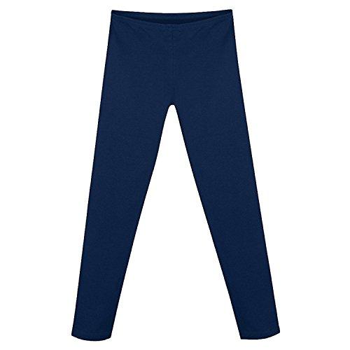 Stretch-Leggings f¨¹r M?dchen aus Baumwolle K411_Navy_XS (Hanes Baumwoll-leggings)