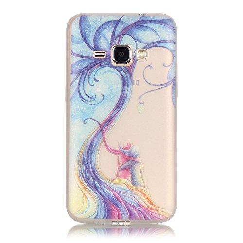 CaseHome Samsung Galaxy J120/J1 (2016) Luminous Hülle (Mit Frie Displayschutzfolie) Leuchtende Silikone Rückhülle Für iPhone 6 6s Plus 5.5 Zoll Zoll Silikon Etui Handy Hülle Weiche Transparente Lumino Paar-Liebe-Baum