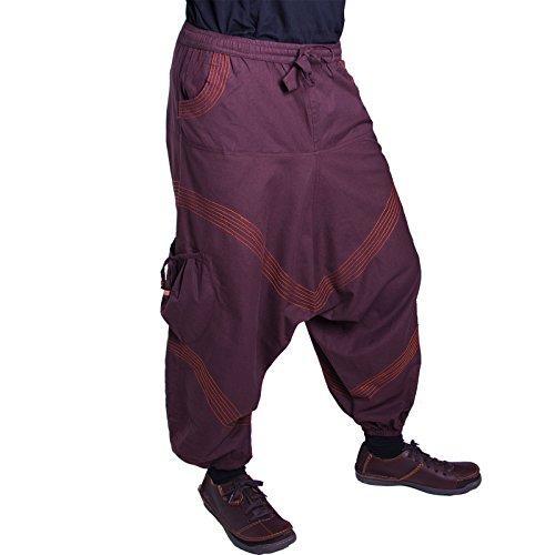 Pantaloni Da uomo harem in colori classici Braun / Orange