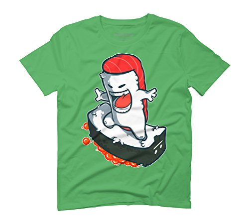 Tuna rides Ikura Men's Graphic T-Shirt - Design By Humans Green