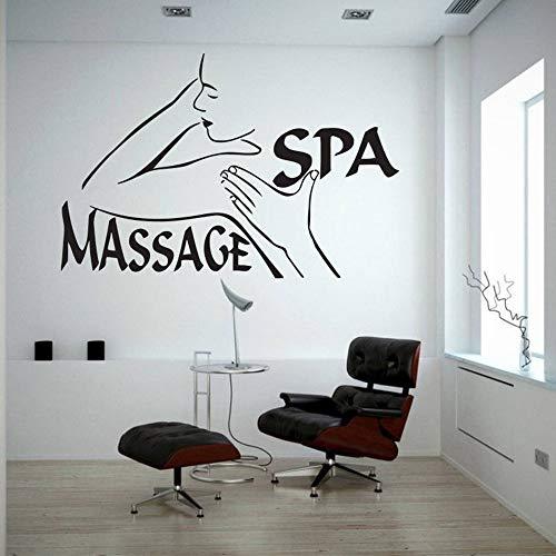 zqyjhkou Wandtattoo Spa Massage Wandbild Vinyl Aufkleber Kunst Schönheitssalon Wand Fenster Dekoration Removable Poster Selbstklebende D573 85x57 cm (Hochzeits-kuchen-deckel-eule)