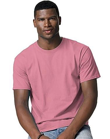 Hanes - T-shirt - Manches Courtes - Homme Rosé