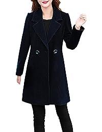 Ansenesna Abrigos Mujer Invierno Rebajas Elegantes Talla Grande Chaqueta MáS Gruesa Tipo Cachemira para Mujer Sobrepasa