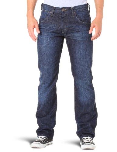 Wrangler - Crank - Jeans - Droit - Homme Bleu (Dark Clean)