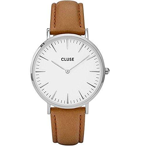 Cluse Damen Armbanduhr Analog Quarz Leder CL18211