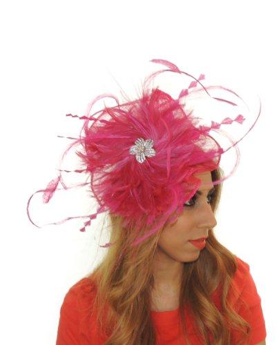 Hats By Cressida - Capeline -  Femme Rose - Fuchsia