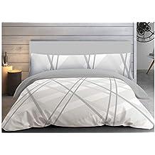 """ADP Home - Funda nórdica, juego de 3 piezas """"Scandi"""" (funda de almohada, bajera ajustable y funda nórdica), diseño único, cama de 90 cm"""