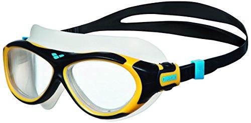 arena Kinder Unisex Schwimmmaske Brille Oblò Junior (Verstellbar, UV-Schutz, Anti-Fog Beschichtung), Clear-Yellow-Black (47), One Size