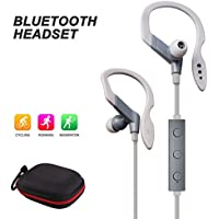 quntis® Bluetooth Auriculares Deporte Auricular Auriculares In-Ear aislamiento acústico para deportes, correr, conducir, wandeln, montañismo, para iPhone 7Plus 76S 6S Plus 66Plus se 55C 5S, Samsung Galaxy S6Edge S6, Android Phones, Bluetooth Smart TV, etc (gris)