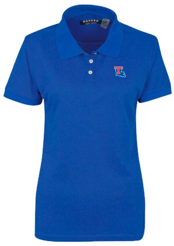 Oxford NCAA Louisiana Tech Bulldogs Damen Poloshirt mit 3 Knöpfen und Ärmeln, Ultramarin, XXXL Louisiana Tech Bulldogs Golf