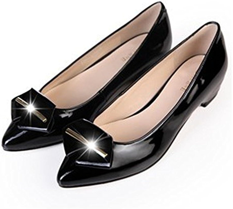 GTVERNH Zapatos de Mujer/En La Primavera Lacado Zapatos De Mujer Son Planteadas En La Suela con Un Criado Único...