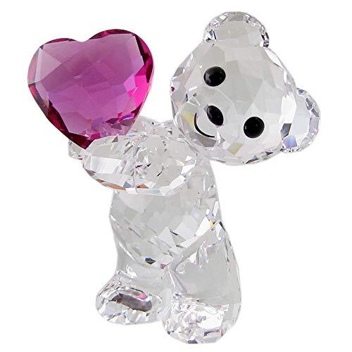 Swarovski Kris Bär - Nimm Mein Herz Figurine, Kristall, Mehrfarbig hell, 4,2 x 3,4 x 2,4 cm (Ich Begann Als Kind)
