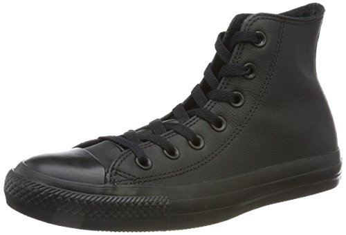 Taylor Leder Schwarz High-top (Converse Chuck Taylor All Star Adulte Mono Leather Hi, Unisex-Erwachsene Hohe Sneakers, Black Mono, 39 EU)
