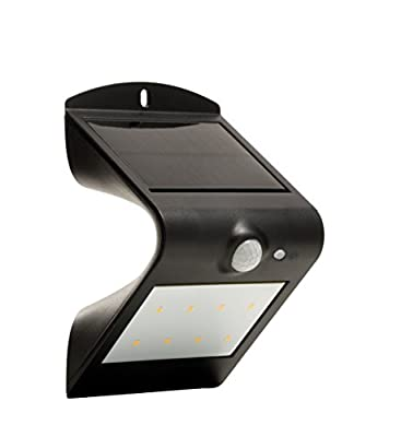 Luceco LEXS30B30-01 Solar Guardian PIR Wall Light - Black - cheap UK light store.