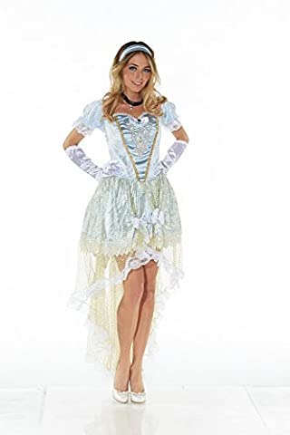 DELUXE Kostüm BLUE PRINCESS Gr. M Prinzessin