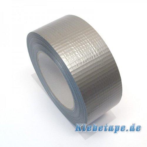 Klebeband Silbern 48mm x 50m Gewebeband Reparaturband PE beschichtet