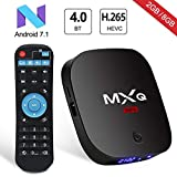 Superpow - [2018 Ultima Generazione] MXQ MINI Android 7.1 TV Box di 2GB RAM+8GB ROM Smart TV Box con BT 4.0 / HD / H.265 / 4K / 3D