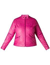 79d625f357540e X Two Jacke Kunstleder Lederjacke Halexa Damen Lagenlook Plusgröße Vitage