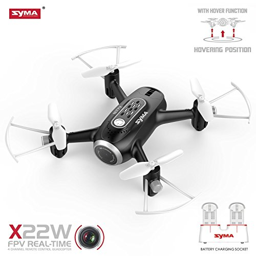 16db454fa58 FPV RC Drone Mini Drone Syma X22W Nano Quad Copter WiFi FPV Pocket Drone HD  Camera RTF Mode 4 Channel Headless Mode Remote Control Altitude Hold  Quadcopter ...