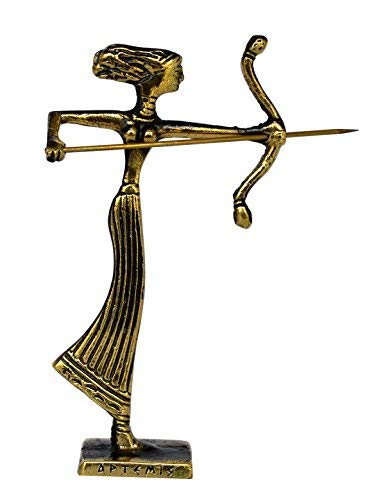 Estia Creations Artemis Mini-Bronzefigur - alte Göttin der Jagd - Diana Mistress of Animals