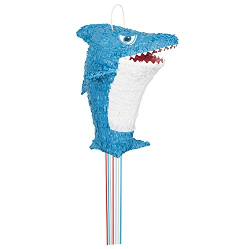 Shark Pinata, Pull String (Shark Party Supplies)