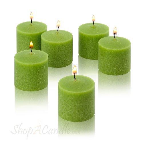 10 heures Vert citron non parfumées Lot de 72 Bougies votive en lumière dans l'obscurité