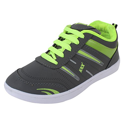 Bersache Men's Grey & Green Sports Shoes (Running Shoes) (6 UK)  available at amazon for Rs.198