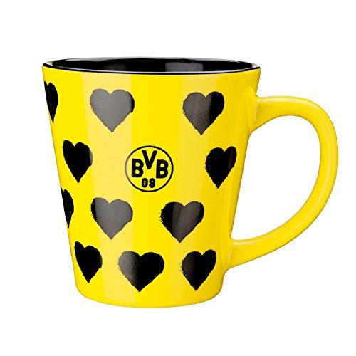 BVB-Tasse mit Herzen one size