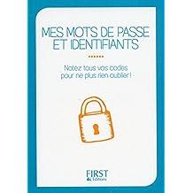Petit livre de - Mes mots de passe et identifiants