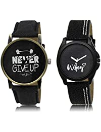 The Shopoholic Black Combo Best Combo Pack Black Dial Analog Watch For Boys And Girls For Men Stylish Watch
