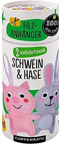 2 niedliche Freunde: Schwein & Hase