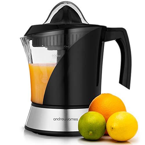 Andrew James Zitruspresse Elektrisch | Entsafter für Orangen & Zitronen | Frisch Gepresste Fruchtsäfte in Sekunden | 40W