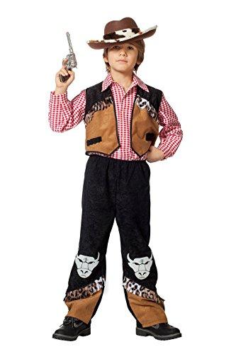 Jannes - Kinder Cowboy Kostüm , Weste mit -