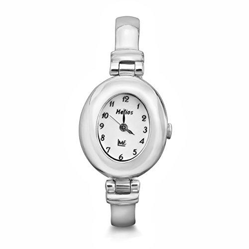 Damenuhr Analog Quarz 925 Sterling Silber Schmuckuhr Damen Armband Uhr,Oval,Handarbeit Classic #1931