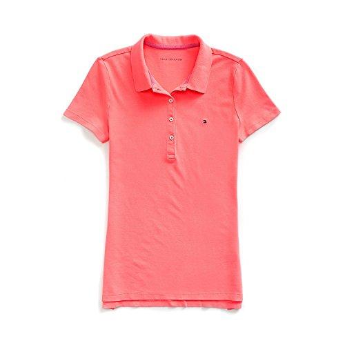 Tommy Hilfiger Poloshirt, Plain Logo Polo, Large Damen Polo-shirt Kleid