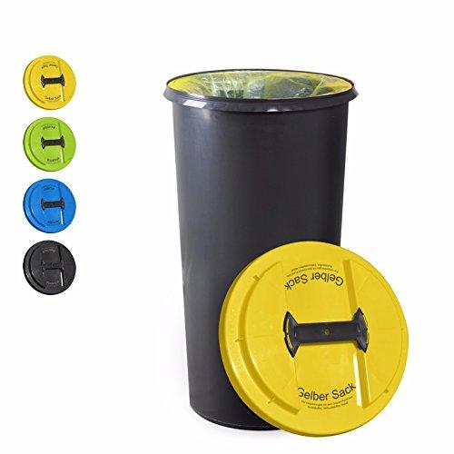 *KUEFA BSC6 LA – 60L Mülleimer / Müllsackständer / Gelber Sack Ständer (Gelb, Gelber Sack)*