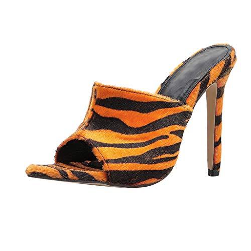 Damen Sandalen Yogogo Unisex Flip Flops Roman Sommer Schuhe Zebra Leopard Plateauschuhe Einzelne Strand Flach Clogs Hausschuhe Anti Rutsch Walking Leder Cross-Tied Open Toe Sandalen für Sport Yoga Zebra Wedge Flip Flop