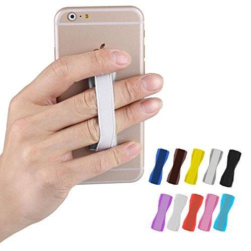 FINOO ® | Selfie Halter Strap | Handyhalterung für Finger | Griff-halter für Dein Smartphone, Tablet oder E-Reader | Für Iphone, HTC, Samsung, Sony uvm | Farbe weiß