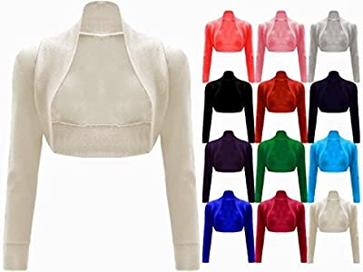 cexi Couture–Mujer Bolero Chaqueta de punto manga larga einf ärbig tamaños 36384042