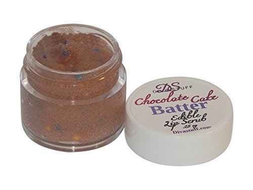 lip-scrub-chocolate-cake-batter-flavor-1-4-ounce-of-fun-flavor-for-soft-lips-by-diva-stuff-by-diva-s