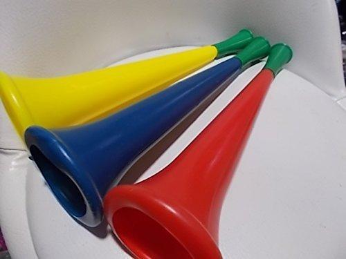 Schönes Blashorn (3 Stück) Set für Fussball/Basketball Spiel rot,gelb und blau für Kinder